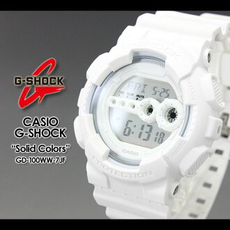 CASIO/G-SHOCK/g-shock g shock G shock G- shock [Solid Colors/ solid colors] watch GD-100WW-7JF/white [fs01gm]