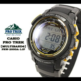CASIO/G-SHOCK/g-shock g shock G shock G-shock PRO TREK [MULTIBAND 6] watch /PRW-2000A-1JF/black men [fs01gm]