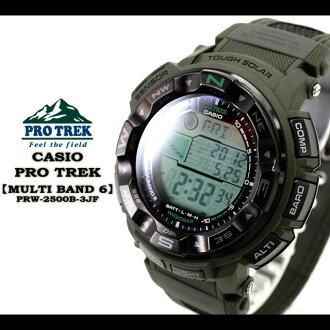 CASIO/G-SHOCK/g-shock g shock G shock G-shock PRO TREK [MULTIBAND 6] watch /PRW-2500B-3JF/camo men [fs01gm]