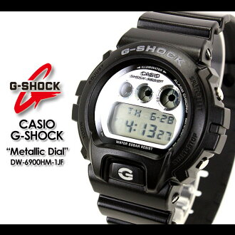 CASIO/G-SHOCK/g-shock g shock G shock G- shock [Metallic Dial Series] metallic dial series watch /DW-6900HM-1JF/black [fs01gm]