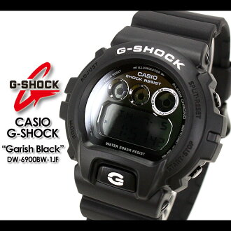 CASIO/G-SHOCK/g-shock g shock G shock G- shock [Garish Black] ガリッシュブラック watch /DW-6900BW-1JF/matte black [fs01gm]