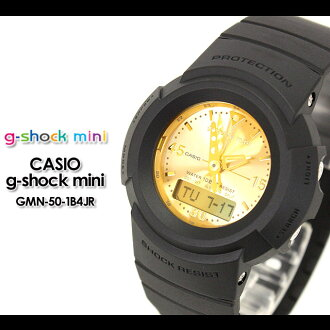 CASIO/G-SHOCK/g shock G shock G-shock G-shock mini g-shock mini women watch GMN-50-1B4JR/matte black/gold Lady's [fs01gm]