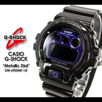 CASIO/G-SHOCK/g-shock g shock G shock G- shock [Metallic Dial Series] metallic dial series watch /DW-6900MF-1JF/black [fs01gm]