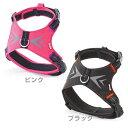 ペティオ ホールドハーネス ウェーブ M 中型犬 胴輪 ブラック・ピンク 犬用 BASIC PLUS (ベーシックプラス)