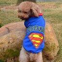スーパーマン トレーナー XXL (3L) ブルー・グレー 中型犬 柴犬等 犬服