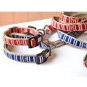 ペティオ マリンカラー&リード S レッド・ブルー 小型犬用...