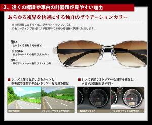 偏光サングラスを超えるドライブ専用サングラスランチェッティドライビングサングラスUV99%カットケースセットCR1001CR1002CR1003