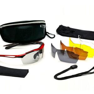 エレッセスポーツサングラスES-S104交換レンズ5枚、専用ケースなど驚きの10点セット