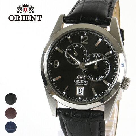 【腕時計 メンズ】ORIENT オリエント 逆輸入 海外モデル 本革 レザーベルト AUTOMATIC オートマチック 自動巻き 腕時計 男性 メンズ≪送料無料・代引き手数料無料≫