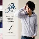 ジップアップ パーカ トップス メンズファッション ランダムテレコ 長袖 ジップ パーカー SPU スプ