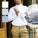 マニュアルアルファベット 長袖シャツ メンズ Manual Alphabet オックスフォードシャツ オックス シャツ 無地 ボタンダウンシャツ 白 ..
