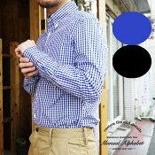 マニュアルアルファベット ギンガムチェックシャツ 長袖シャツ メンズ Manual Alphabet チェック シャツ 無地 ボタンダウンシャツ 白 ホワイト カジュアル キレイ目 日本製 MADE IN JAPAN 定番 人気商品 売れ筋 1(S) 2(M) 3(L)4(XL)サイズ ブランド 通販 人気 BASIC-MK-007