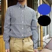 マニュアルアルファベット ギンガムチェックシャツ 長袖シャツ メンズ Manual Alphabet チェック シャツ 無地 ボタンダウンシャツ 白 ホワイト カジュアル キレイ目 日本製 MADE IN JAPAN 定番 人気商品 1(S) 2(M) 3(L)4(XL)サイズ ブランド 人気 BASIC-MK-007