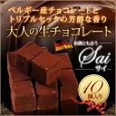 生チョコレート 10粒入 バレンタイン ホワイトデー ギフト[凍]
