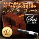 生チョコレート 10粒入[凍]チョコ お菓子 スイーツギフト プチギフト 敬老の日