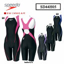 【SD44H05】SPEEDO 競泳水着FLEX Σ ウイメンズセミオープンバックニースキン女性用 05P19Mar14