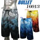 【送料無料】【16013】 BULLET メンズ サーフパンツやしの木 プリント柄 カジュアル 05P05July14