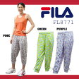 【FL8771】 FILA クロップドパンツ 女性用花柄迷彩 パンツダンス エアロビクス エクササイズ フィットネス 05P21May14