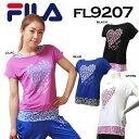 【送料無料】【FL9207】 FILA 半袖 Tシャツ 女性用フェイクレイヤード トップスダンス エアロビクス エクササイズ フィットネス 05P12Oct14