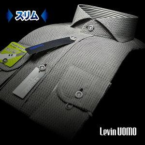 フィット プリント・ワイドカラーシャツ ワイシャツ ビジカジシャツ カッタウェイ