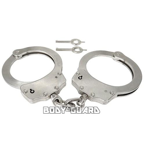 ハンドカフ(手錠)ダブルロックシルバー手錠ハンドカフ警察拘束|サバゲー装備サバイバルゲーム護身用ファ