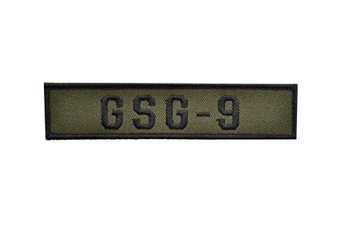 【送料無料】GSG-9 ネームテープ ワッペン パッチ ベルクロ付 オリーブドラブ 緑色 D410P06Aug16