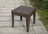 【ガーデンテーブル】ラタン サイドテーブル45