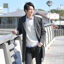【ポイント10倍!】コート メンズ ビジネス グレー ブラック 黒 M L XL 2L LL 3L ...