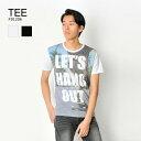 tシャツ メンズ 半袖 プリント 白 黒 M L XL クルーネック ホワイト ブラック サーフ ティーシャツ カットソー EVOLUTION エボリューション hk エイチケー 81206