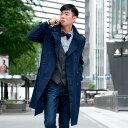 コート トレンチコート ロングコート メンズ ロング ビジネスシーンにも活躍 大きいサイズの4Lまで揃う ダブル ベージュ ネイビー by.Sacro サークロ