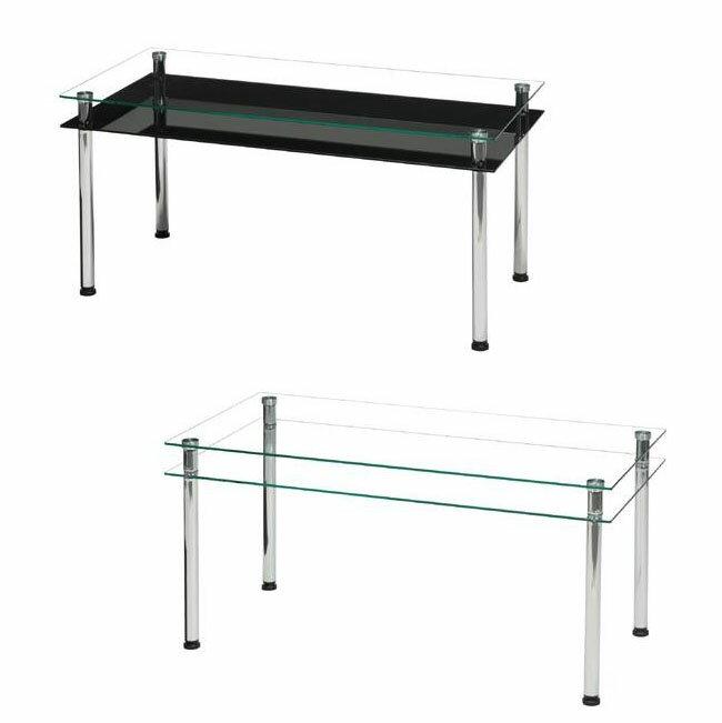 3WAY スタイリッシュガラステーブル NK-842 ブラック シーンに合わせて3通りの使い方ができる!