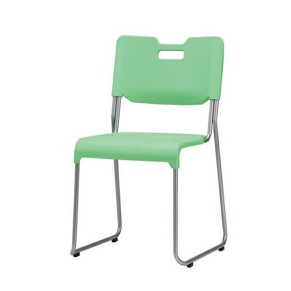 家具 イス テーブル サンケイ スタッキングチェア CM385-MS グリーン 【角型せんたくネット 付き】持ち運びや移動が簡単なスタッキングチェア。