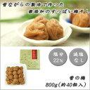 韓國泡菜, 醃菜, 酸梅 - 軽食品 昔ながらの製法で作った無添加のすっぱい梅干し 昔の梅 800g(約40粒入)