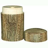 容器・ストッカー・調味料容器0M26-4丸十木製桐丸型茶筒大