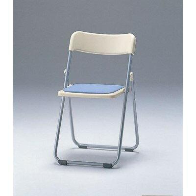 チェア 使いやすさにも定評のある一品です。 家具 オシャレ 折畳み椅子・フラット収納 アイボリー ブルー 【角型せんたくネット 付き】脅威の軽さを誇るエコチェア。