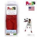 犬用品 お勧め 人気 正規輸入品 アメリカ ポウズ ラバー・ドッグ・ブーツ SMALL レッド PZ2