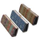 ショッピングメガネケース 流行 生活 雑貨 日本製 西陣織 がま口式メガネケース 西陣口金 チャ・ブラウン・A