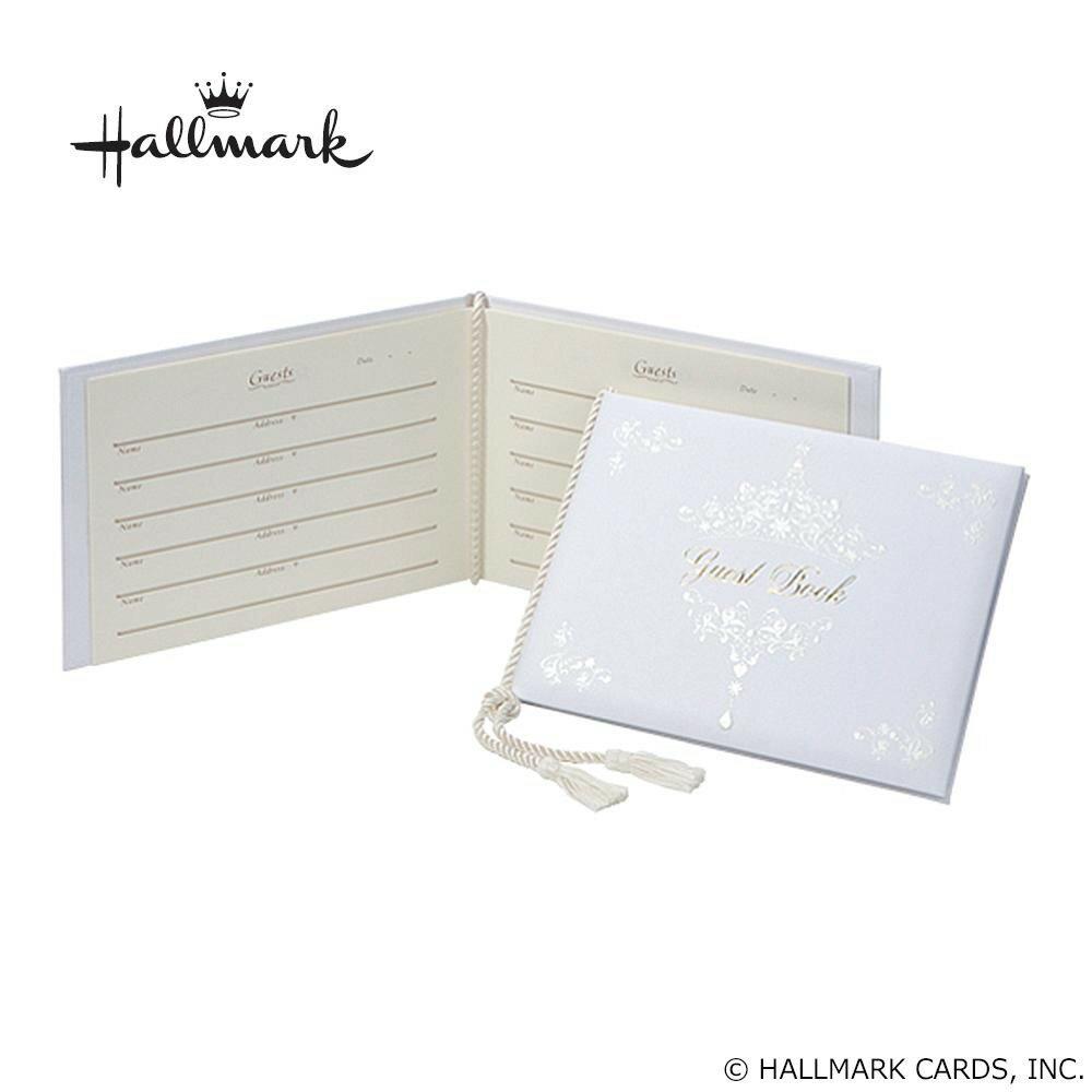 冠婚葬祭関連商品 Hallmark ホールマーク ウエディングコレクション ホワイトティアラ ゲストブック EWG-543-082