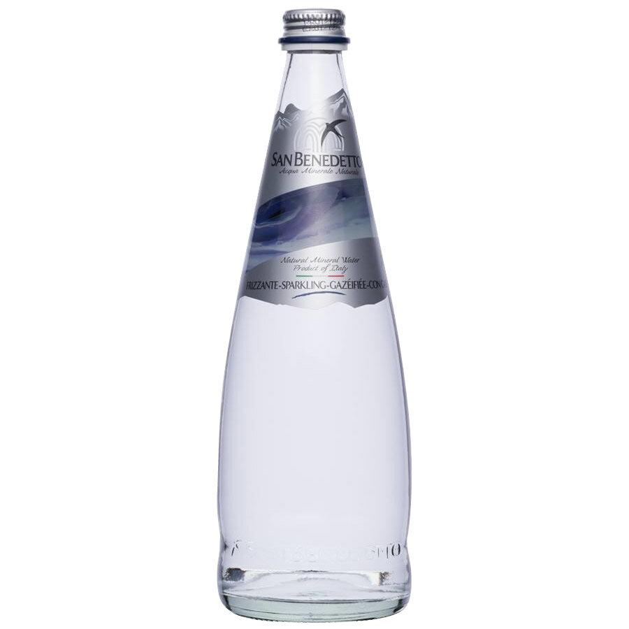 便利雑貨Sanbenedettoサンベネデットスパークリングウォーターグラスボトル750ml×12本