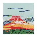 流行 生活 雑貨 ふろしき 名作ふろしき 絹45cm幅 片岡球子 天平雲に富士山 11-0430-82