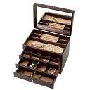 ショッピングボックス 収納用品 関連商品 日本製 木製ジュエルケース(アクセサリーケース) 3ツ引 017-806人気 商品 送料無料 父の日 日用雑貨
