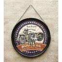 Hanging plate レトロ 壁掛け ハンギングラウンドプラッケ デザイン:US RT66 Bike