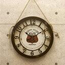 時計 壁掛け時計 アンティーク調 アンティーク エンボスクロック Route66