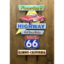 アメリカン雑貨 ウォールデコ エンボス加工 アメリカンスタイルウォールデコ America's Highway