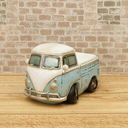 置き物 小物 こだわりの、とても可愛くて、オシャレ レトロモダン マニア マネーバンク ピックアップトラック ブルー