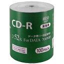 業務用CD-R 700MB 100枚エコパック データ用 2-52倍速対 ワイドプリンタブル対 応詰め替え用エコパック CR80GP100_BULK