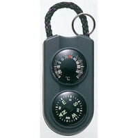 温度計・コンパス サーモ&コンパス FG-5122 ブラック