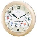 掛け時計 ウォールクロック ウェザーパル 1台4役 BW-5238 シャンパンゴールド