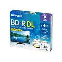 生活関連グッズ maxell BRV50WPE5S 録画用BD-R ひろびろ美白レーベルディスク 1-4倍 50GB 5枚 うす型5mmケース ブルーレイディスクメディア 録画・録音用メディア 関連ブルーレイディスク・メディア ドライブ パソコン