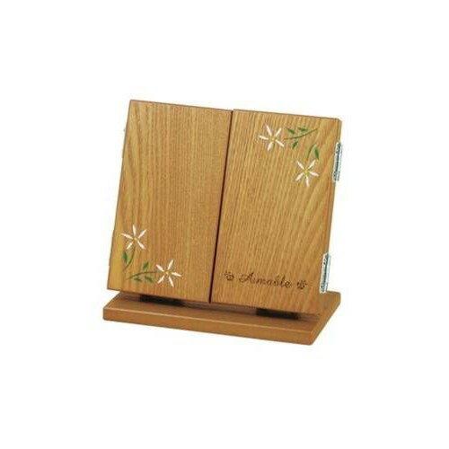 カガミ メイクボックス きれい 木製三面鏡(鏡台) メイク小物 化粧台 メイクミラー 和風ミラー
